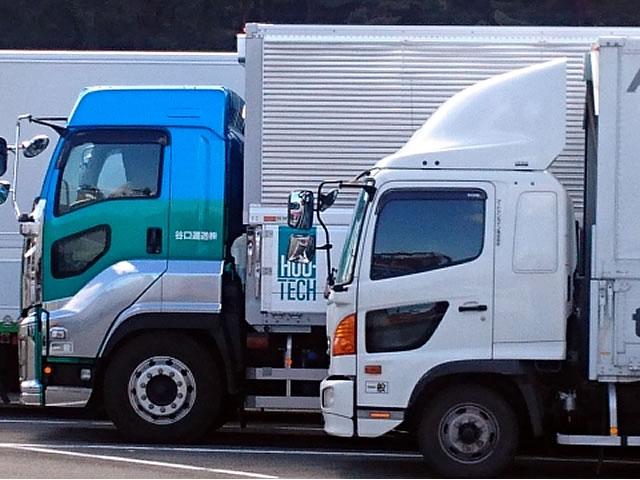 大型トラックのオリジナル装飾